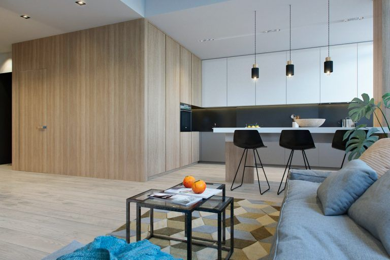 2 Modern Apartments Under 1200 Square Feet Area For Young Families Includes 3d Floor Plans Interior Design Apartment Small Small Apartment Interior Modern Apartment
