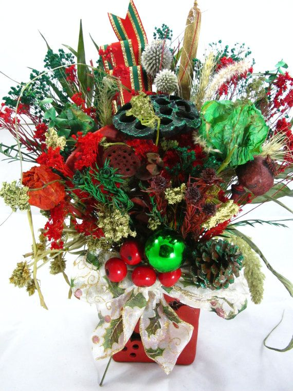 Pin On Christmas Dry Flower Arrangements