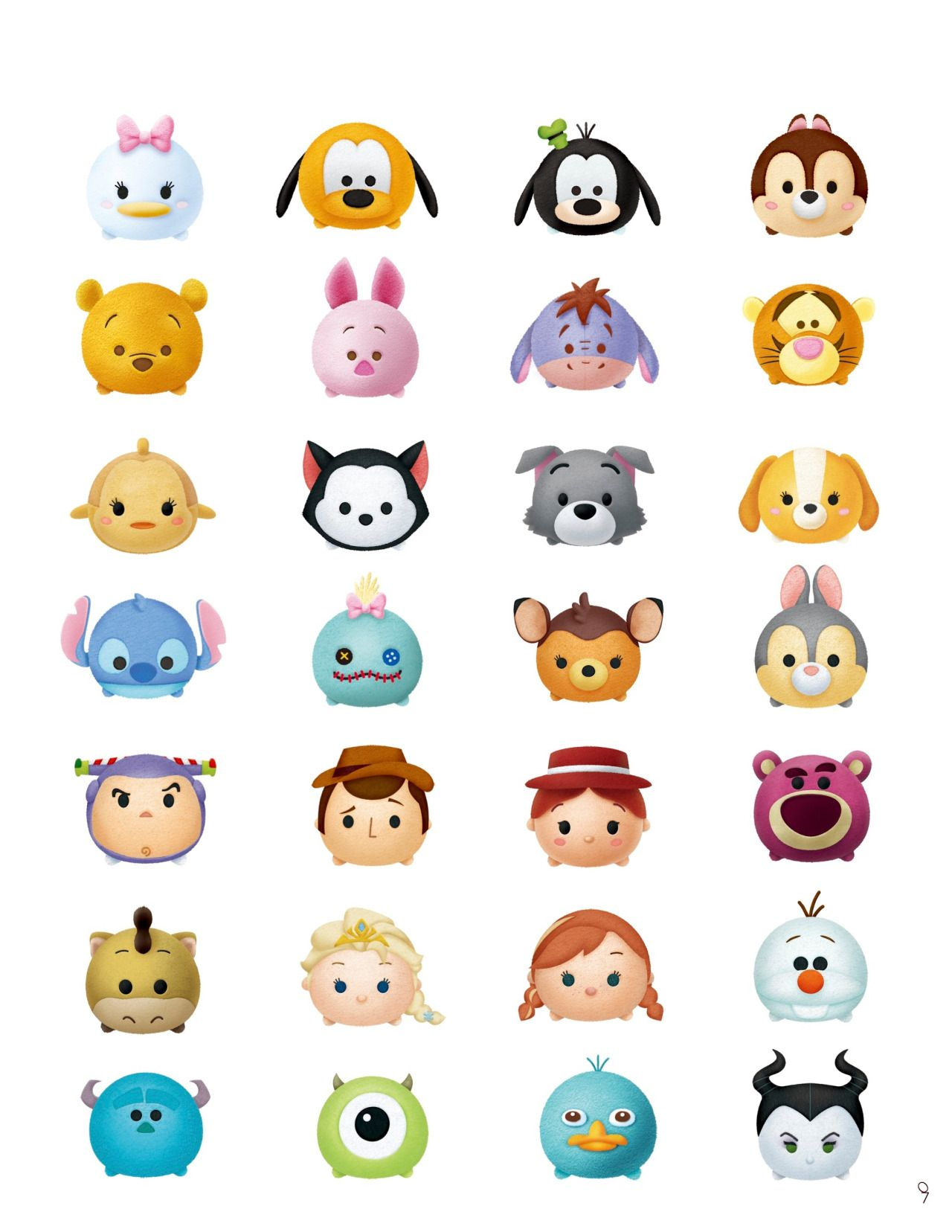 It's just a picture of Persnickety Tsum Tsum Characters Names