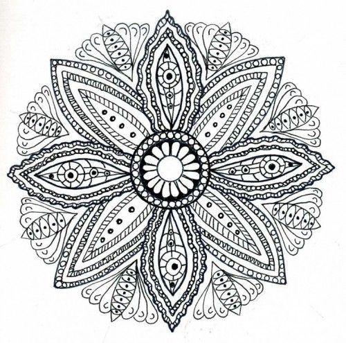 dessin de mandala pour adulte colorier dans 11 coloriages de mandalas pour adultes imprimer pour se dtendre artesanatos pinterest mandala - Dessin Pour Adultes