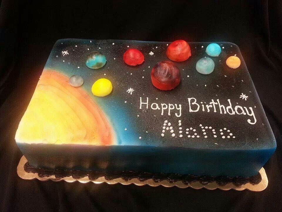 Solar System Cake With Images Cool Birthday Cakes Planet Cake