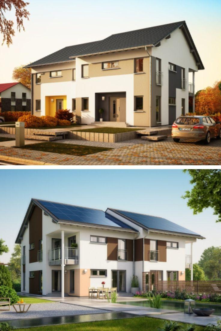 Modernes Doppelhaus mit Satteldach Architektur