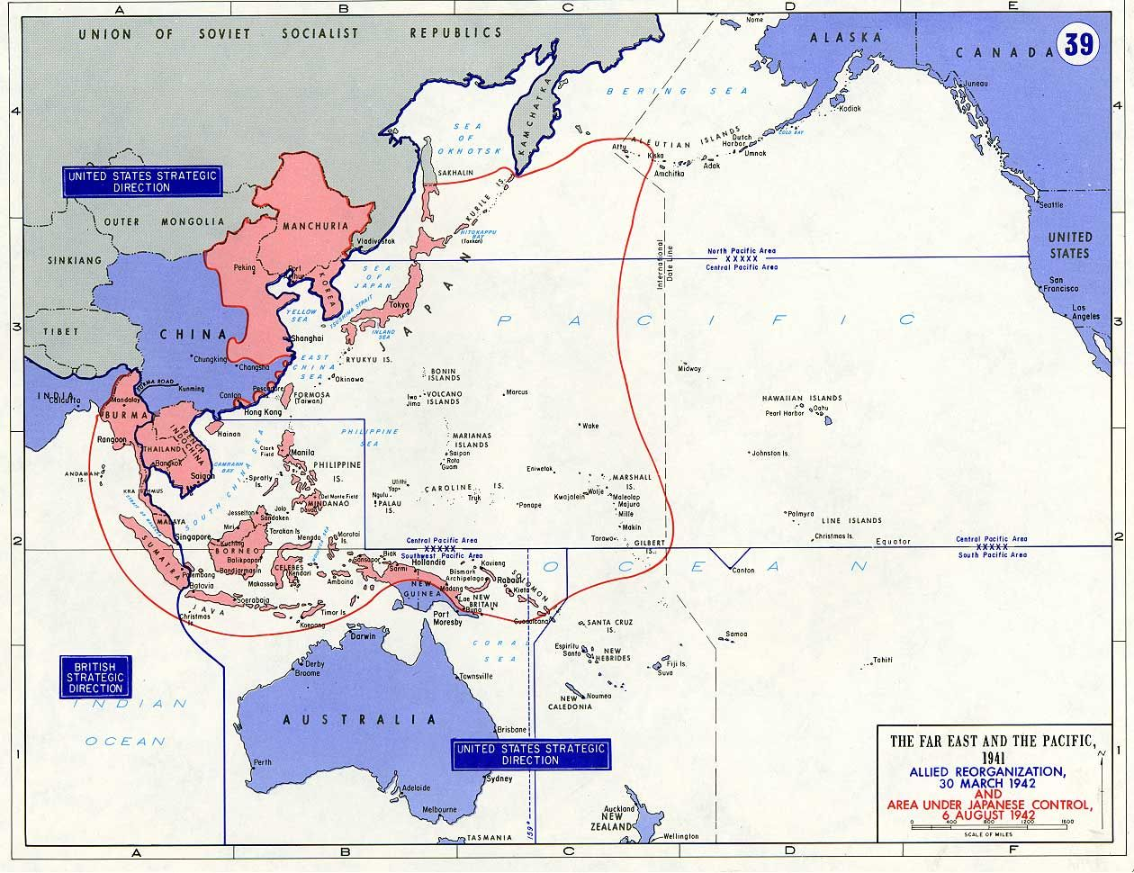 This map shows the japanese controlled areas in the pacific this map shows the two territories in the pacific theater the blue area is the allied reorganization from march the red part on the map represents the area gumiabroncs Image collections