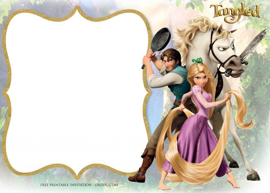 Free Printable Princess Rapunzel Invitation Templates Rapunzel Invitations Rapunzel Birthday Invitation Rapunzel Party