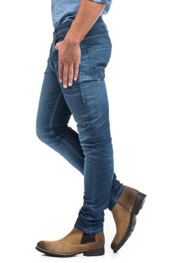 9ffb8d246516e Catálogo Salsa para hombre Verano 2016-Jeans pitillo con calzado de botines  marrones