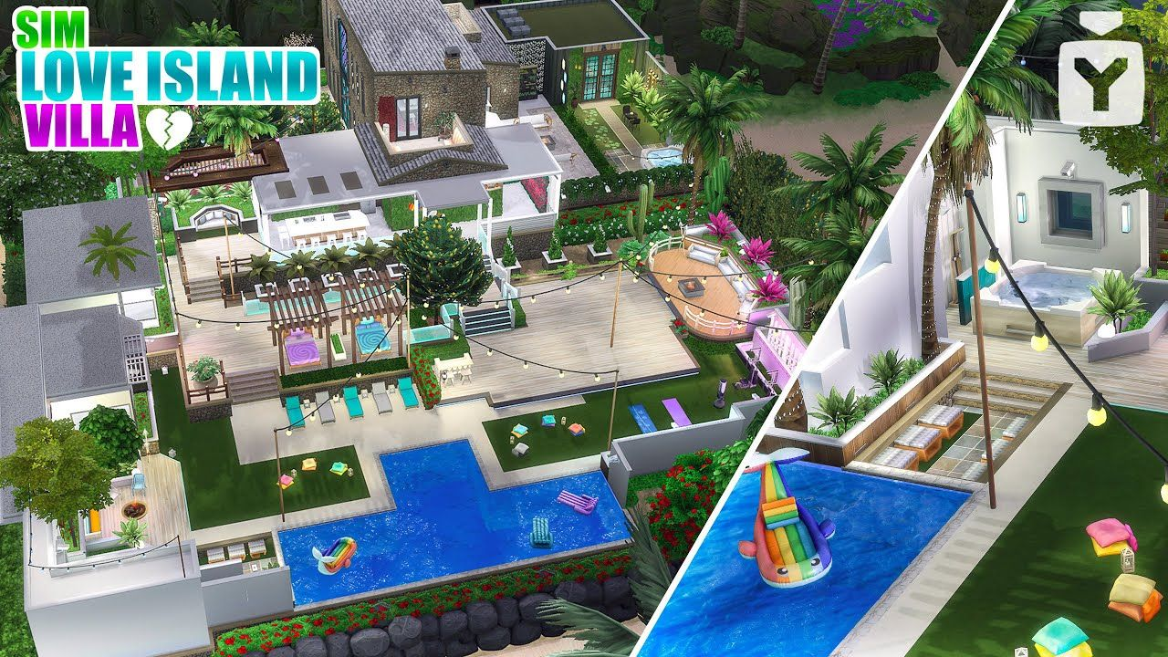 Love Island Villa The Sims 4 Speed Build Island Villa Love Island Sims