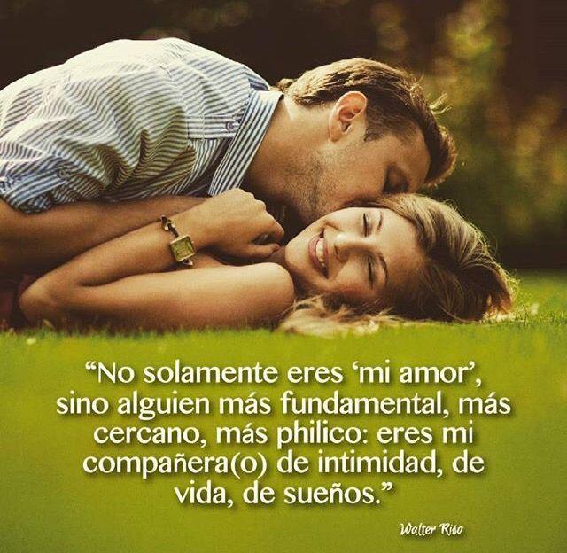 Eres Mi Companero De Vida Frases De Amor Pinterest Quotes