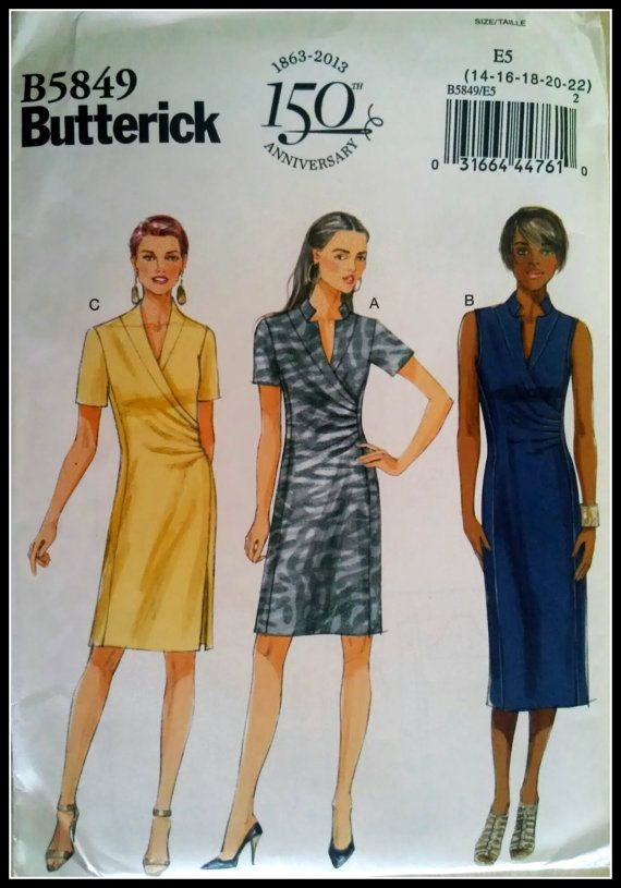 8724 UNCUT Vintage McCalls SEWING Pattern Misses Semi Fitted Dress OOP SEW NEW