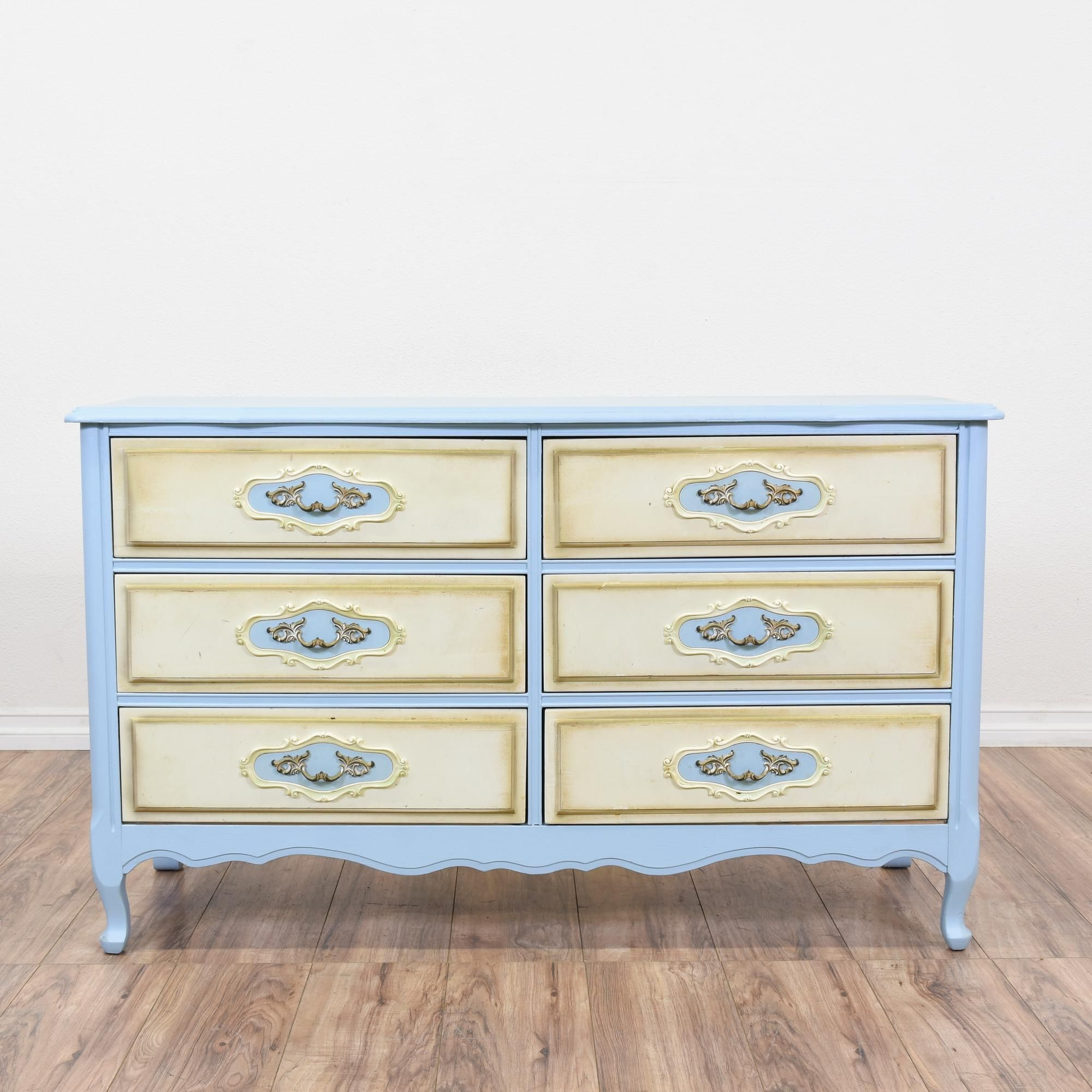 This french provincial dresser is featured in a solid wood ...
