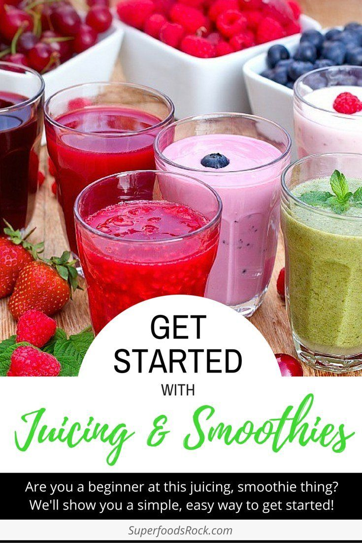 Get Started Juicing and Making Smoothies | A simple approach for beginners on how to get started juicing/smoothies. Go to SuperfoodsRock.com