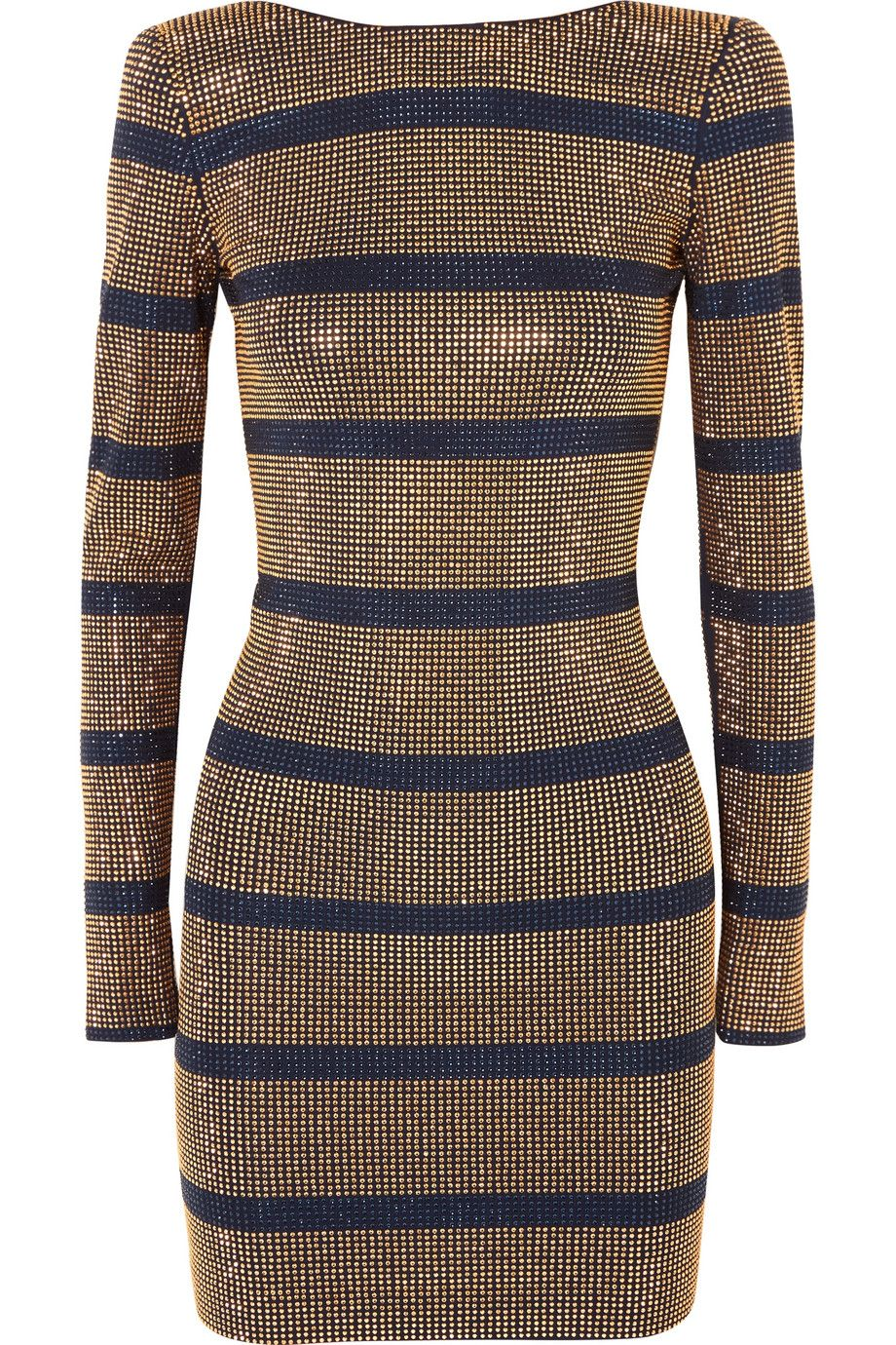 a04db1610bc2 Balmain | Crystal-embellished georgette mini dress | Fashion ...