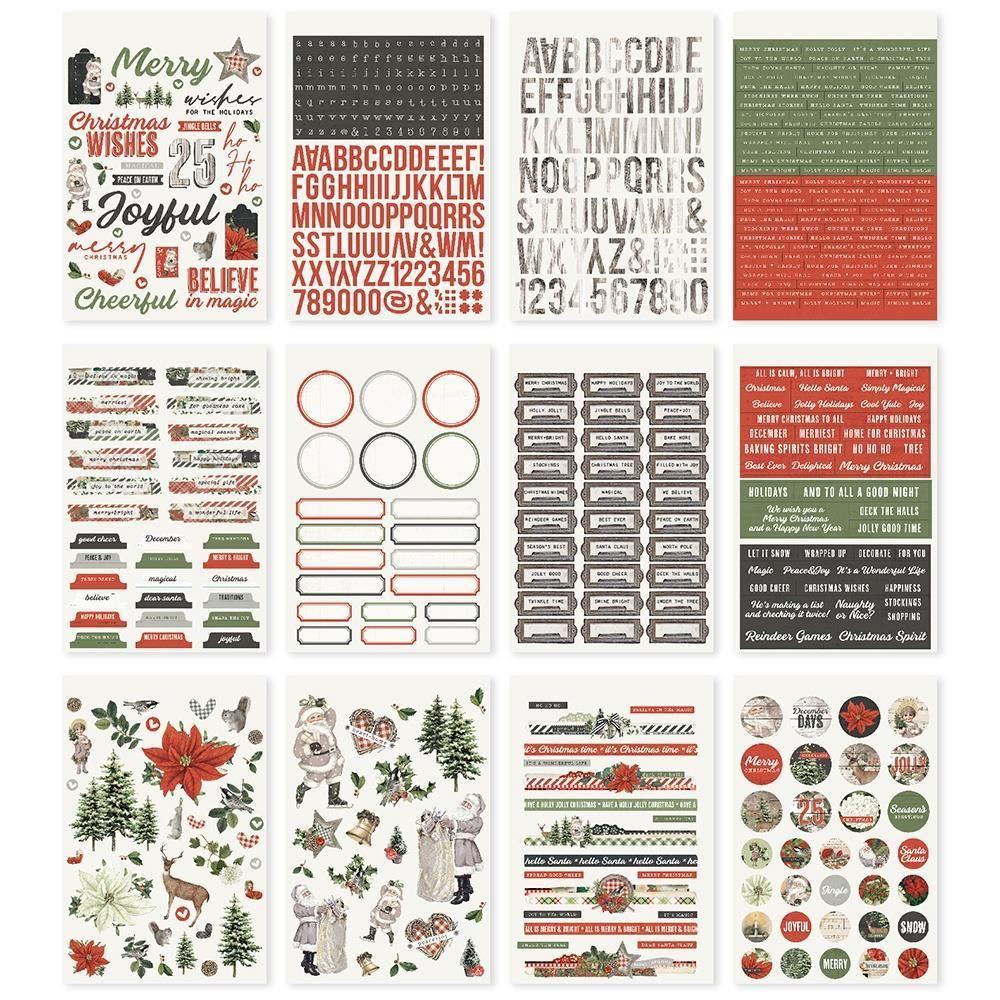 Simple Stories Simple Vintage Rustic Christmas Sticker Book (RC16023)