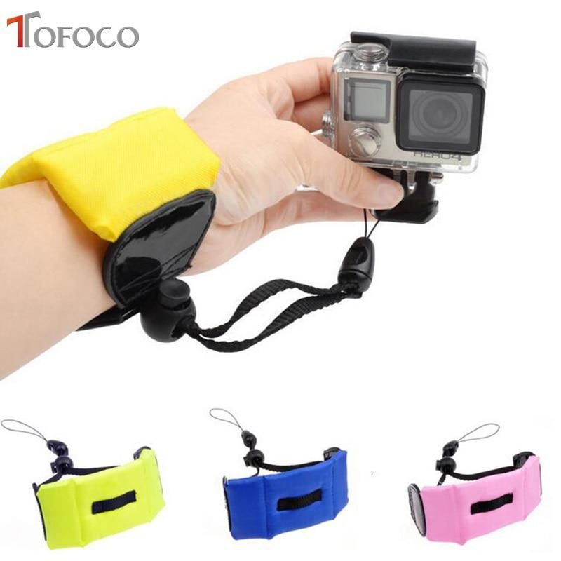 Tofoco For Go Pro Accessories Diving Swimming Floating Bobber Hand Wrist Strap For Gopro Hero5 Hero4 Session Hero 5 4 3 Sj4000 Gopro Camera Accessories Hand Wrist