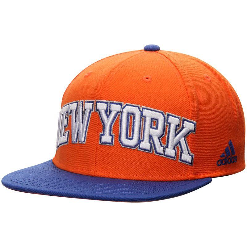 ede4be5de1f New York Knicks adidas On Court Snapback Adjustable Hat - Orange Blue