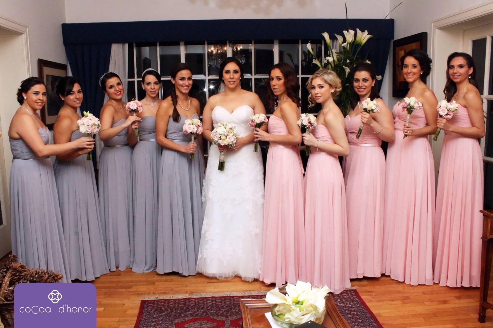 Plata y #PalodeRosa #Damasdehonor #amor #Vestidos #Sueños #Felicidad ...