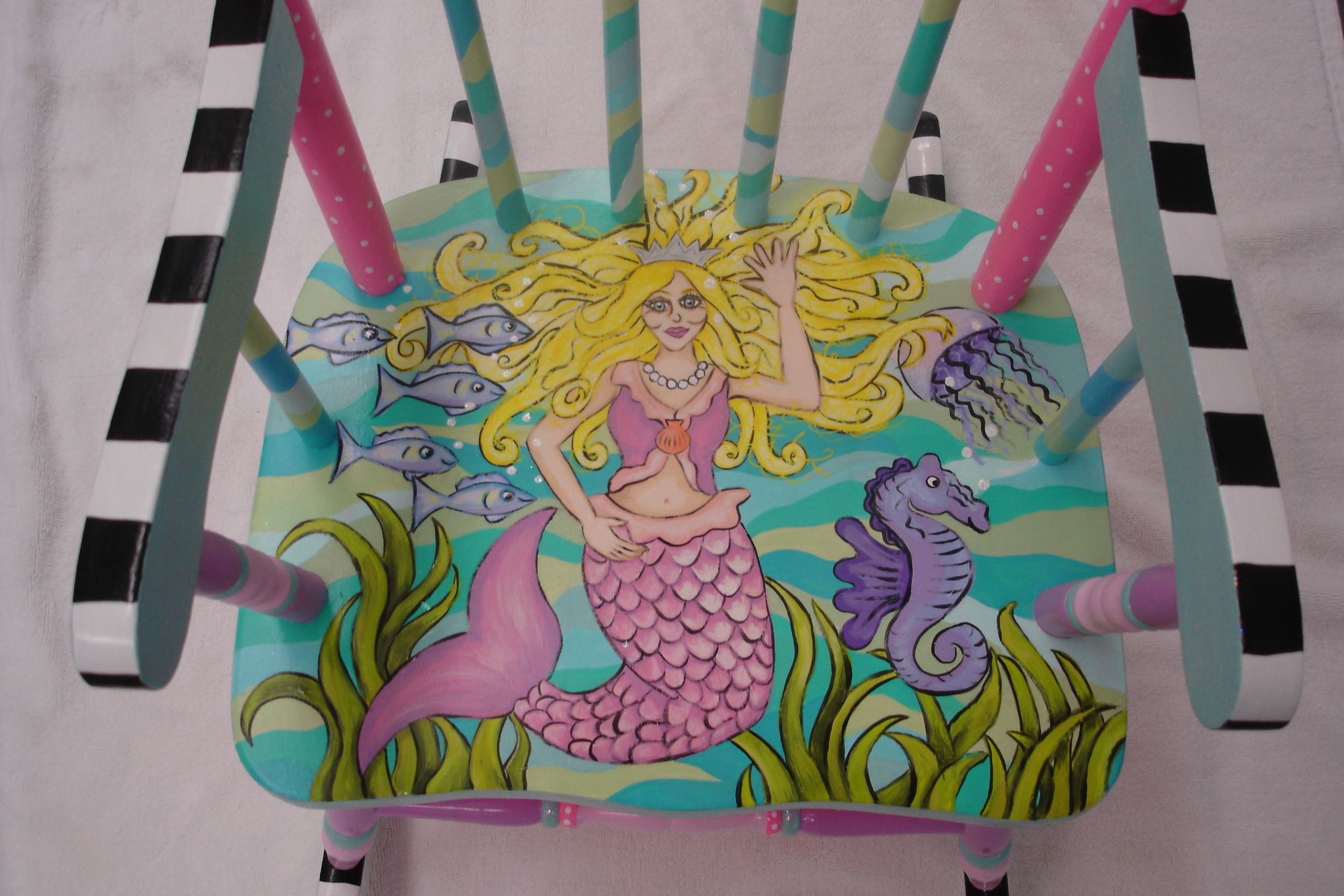 Tremendous Hand Painted Childrens Furniture Hand Painted Rocking Squirreltailoven Fun Painted Chair Ideas Images Squirreltailovenorg
