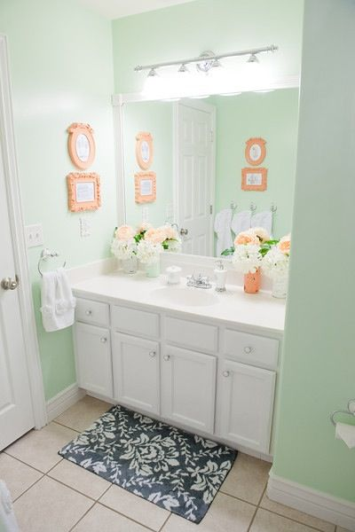 Bathroom Color Martha Stewart Beryl Coral Bathroom Mint