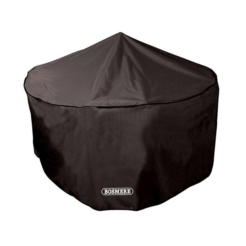 Bosmere D523 STORM BLACK 6 8 Seat Circular Patio Set Cover