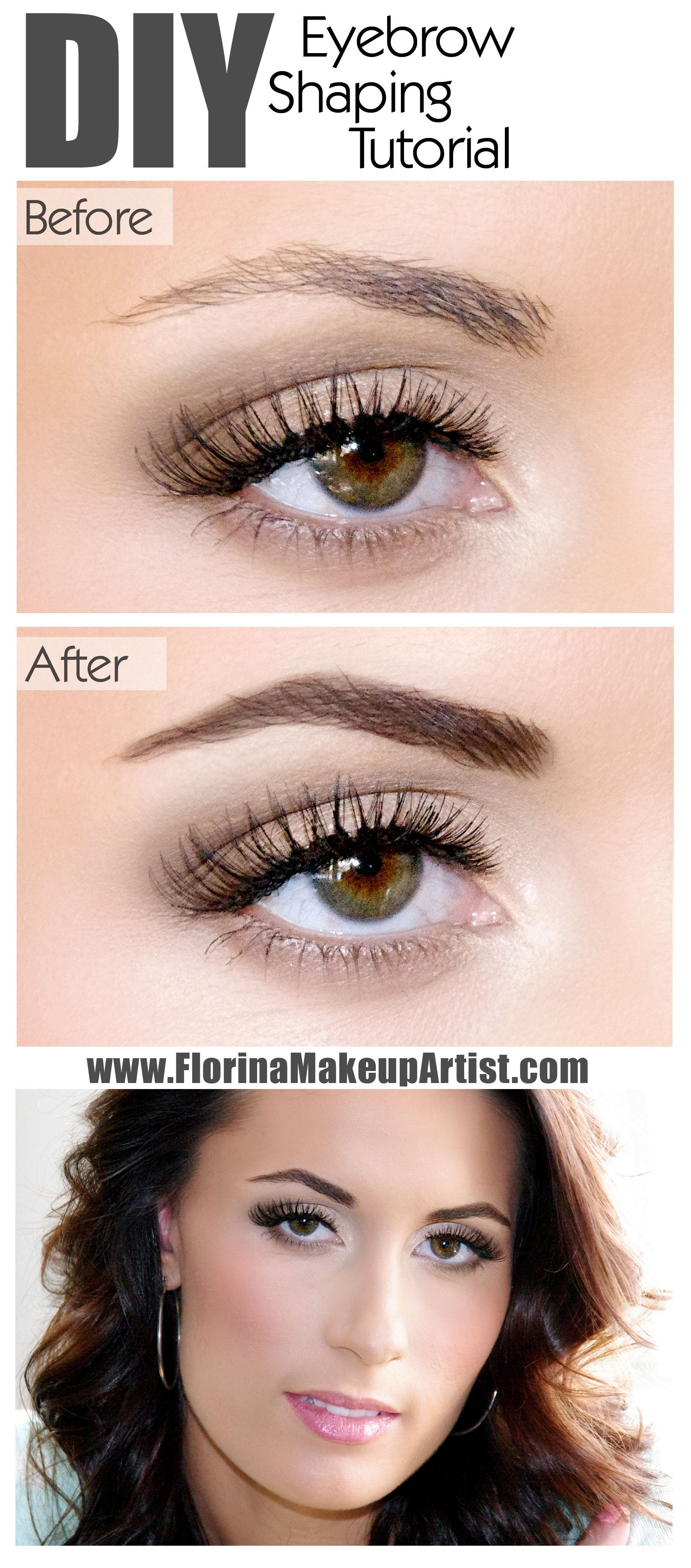 Eyebrow Shaping Tutorial Perfect Natural Eyebrows Eyebrows