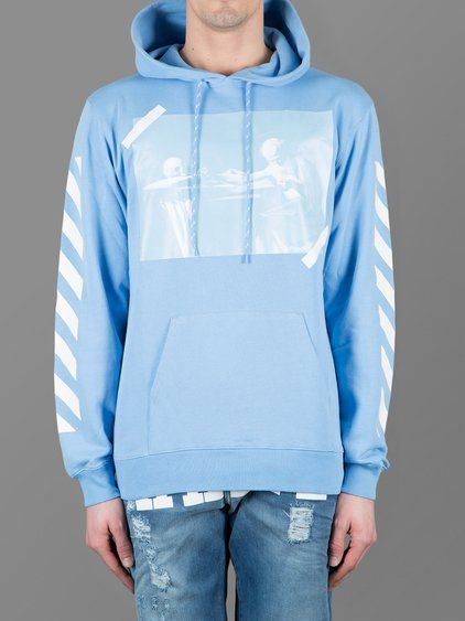 Off White Caravaggio Sweatshirt Baby Blue In 2019
