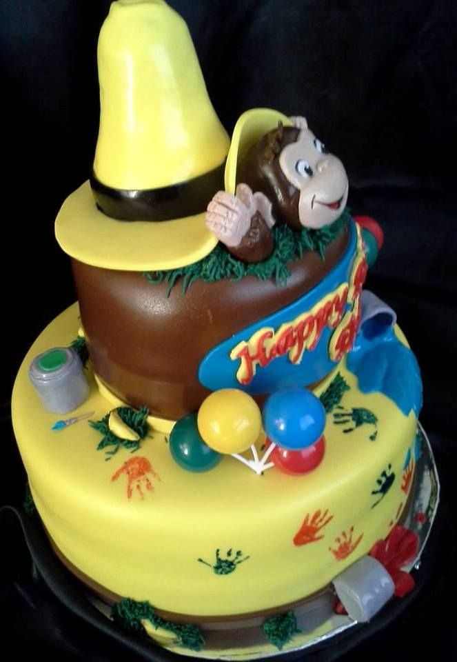 Lets monkey around Curiouse George cake Kids Cakes Pinterest