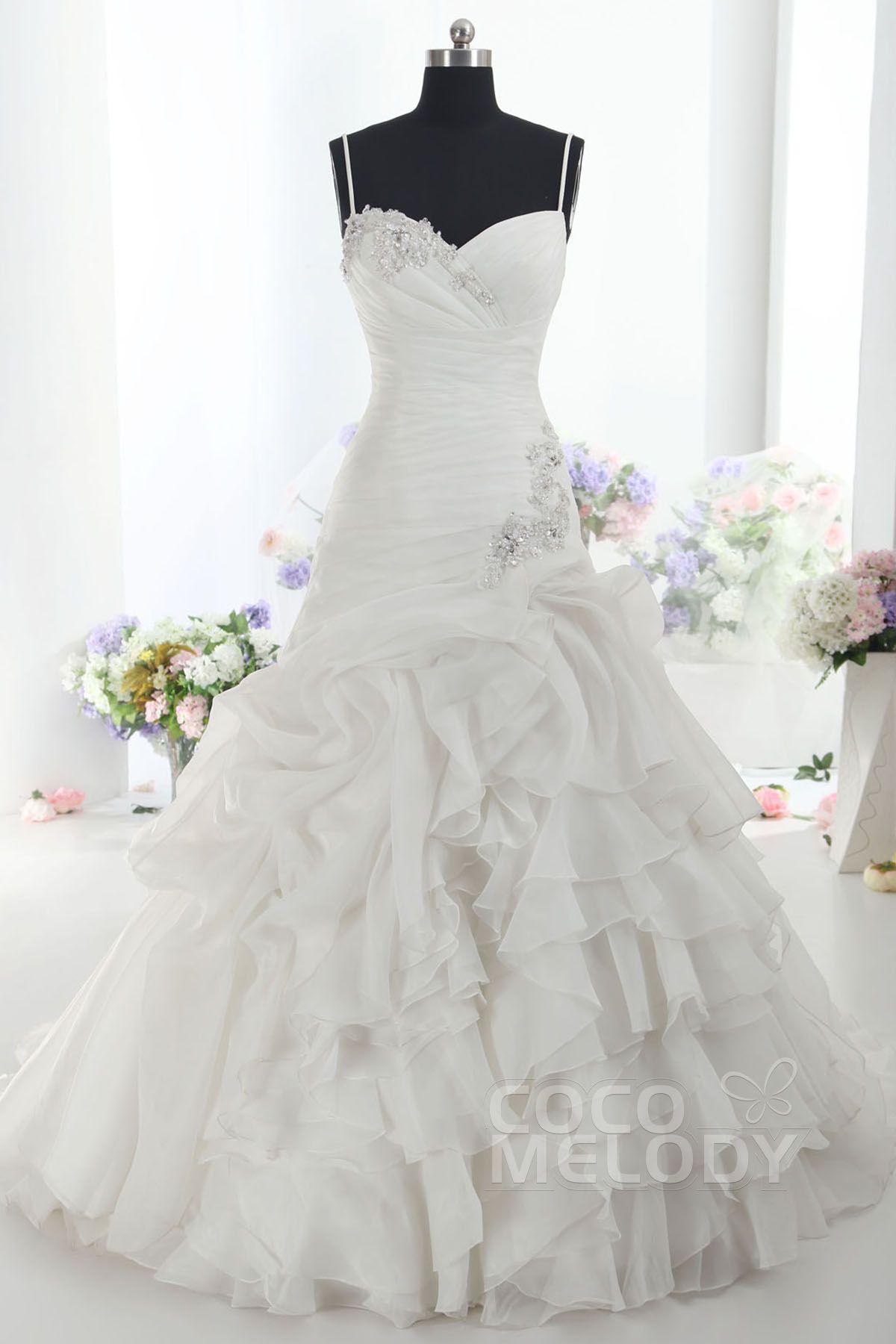 Usd 379 A Line Dropped Train Organza Wedding Dress Ld1099 Drop Waist Wedding Dress Perfect Wedding Dress Ball Gown Wedding Dress [ 1800 x 1200 Pixel ]