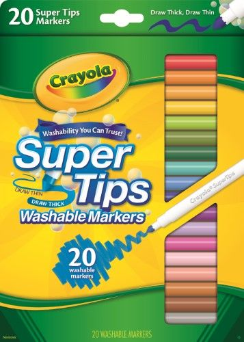 Super Marker Crayola 20 Ct Super Tips Washable Markers