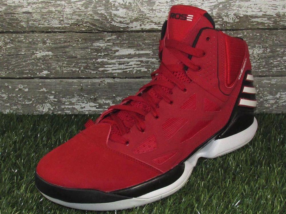 Adidas Adizero Derrick Rose 2 5 Basketball Shoes Size 12 Red Black Derrick Rose Black And Red Basketball Shoes