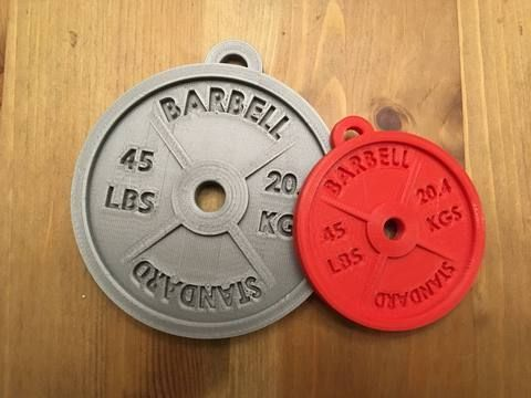 weight plate ornament  fitness gifts gifts for personal