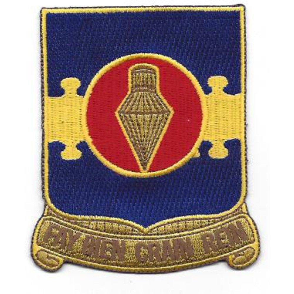 wwii occupation nd armored infantry regiment di german made 326th airborne engineer battalion patch