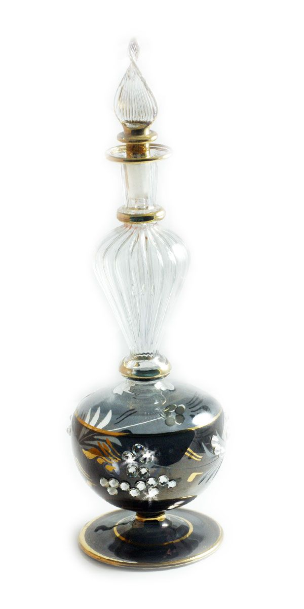 Egyptian Perfume Bottle Decorated With Swarovski Crystals