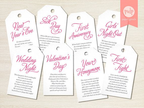 printed item panty tags with poems lingerie shower or bachelorette party gift set bridal gift from bridesmaids set of 8