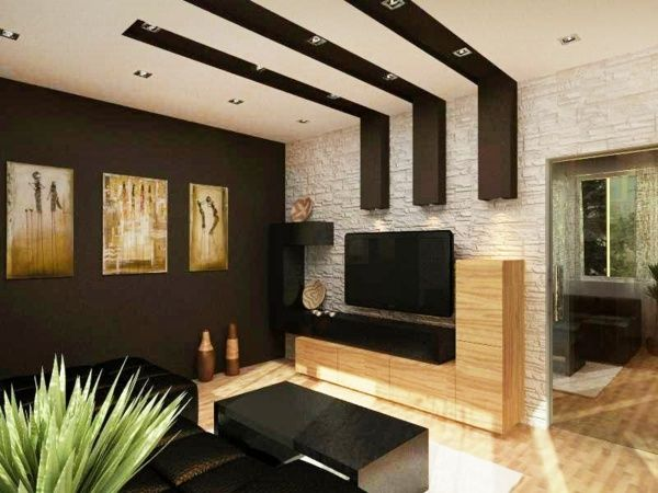 ideen zur deckengestaltung holzbalken wohnzimmer tv. Black Bedroom Furniture Sets. Home Design Ideas