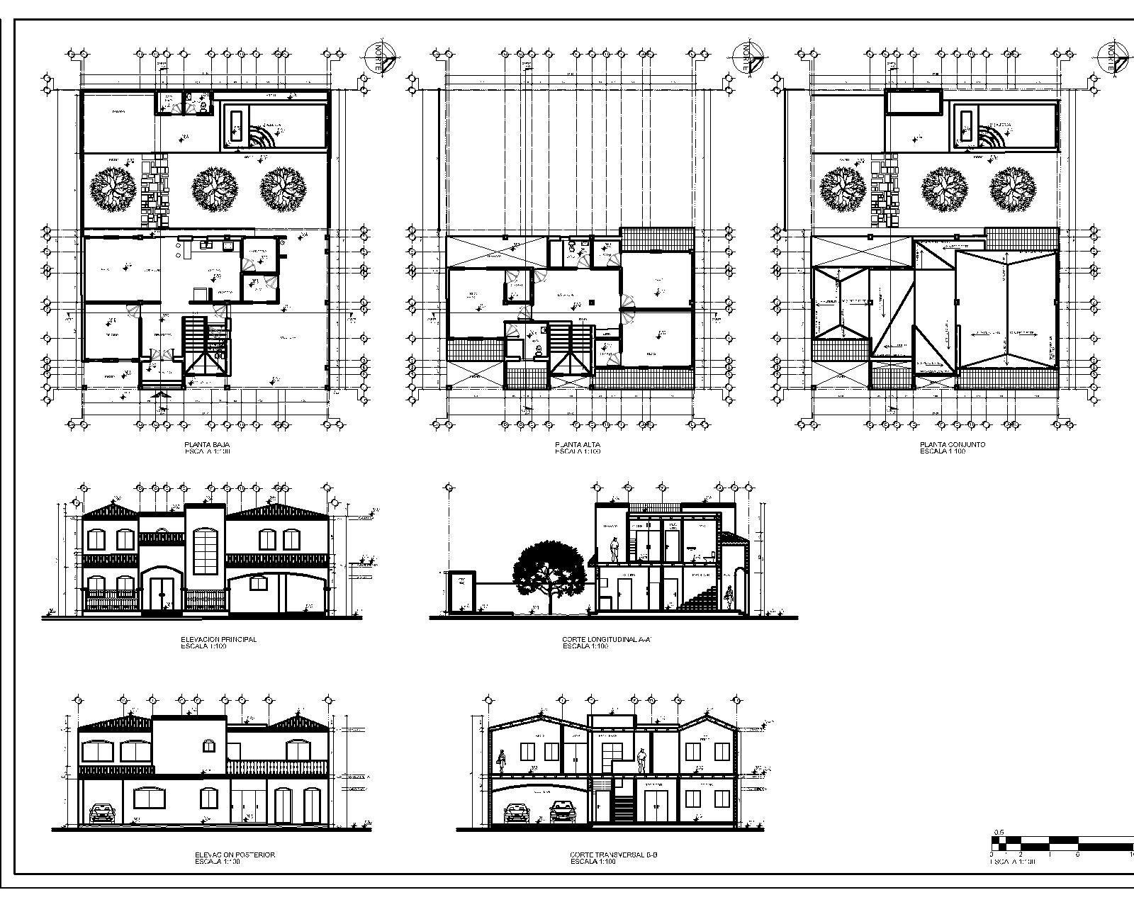 Proyecto arquitectonico plantas cortes y elevaciones for Planos de arquitectura pdf