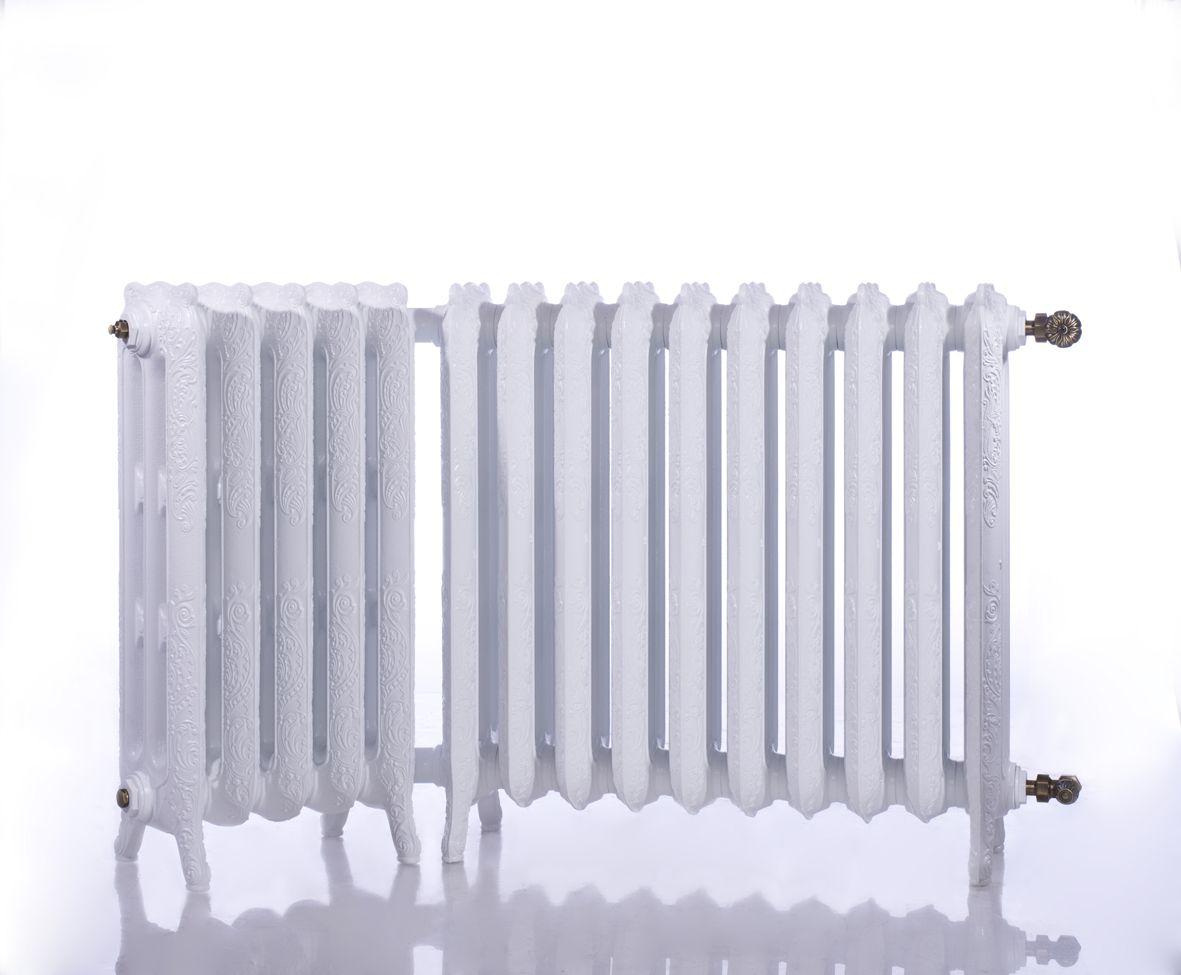 radiateur en fonte d 39 angle belle epoque couleur blanc brillant white. Black Bedroom Furniture Sets. Home Design Ideas