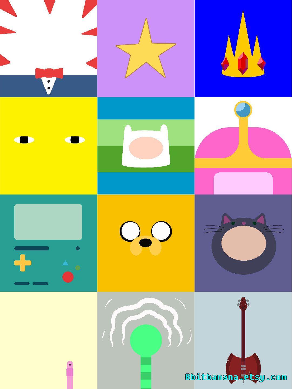 Adventure Time Minimalist Print Set Set Of 12 Fanart Finn Etsy Minimalist Prints Adventure Time Wallpaper Adventure Time Art