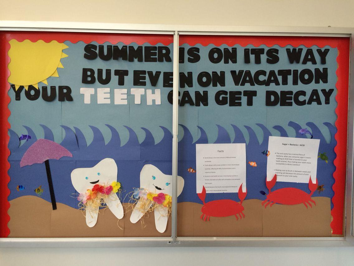 Dental Bulletin Board. Hygiene School Project