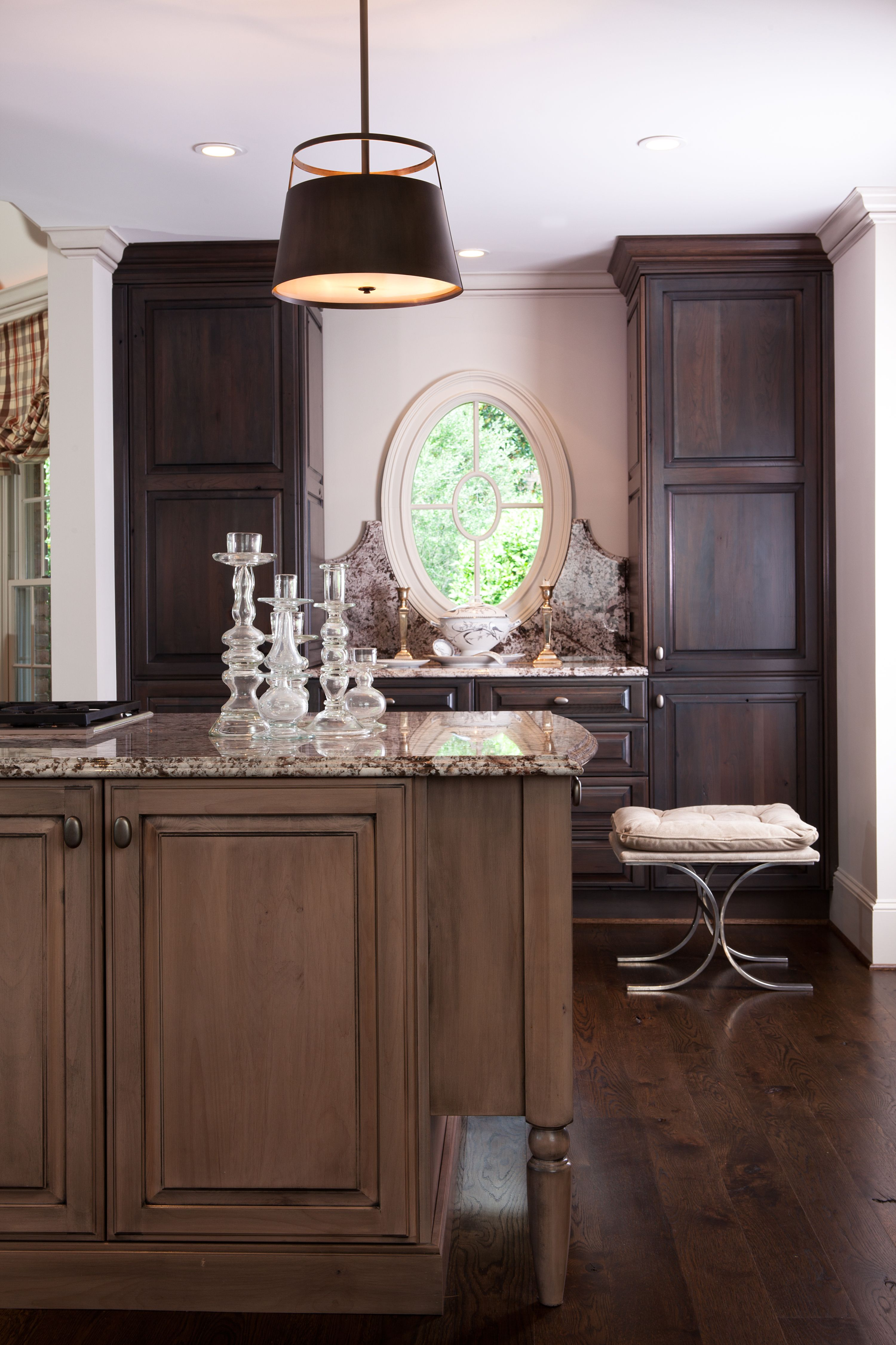 Kitchen island u cabinet color combination kitchen pinterest