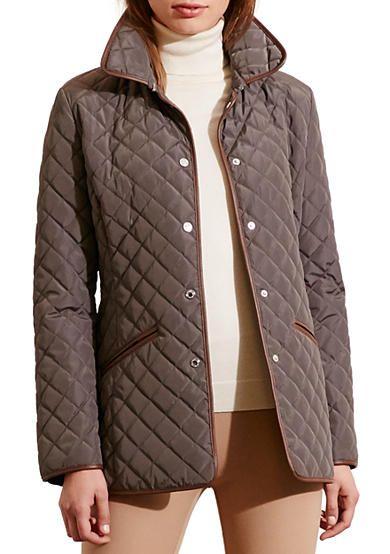 Ralph Lauren Faux Leather Quilted Blazer