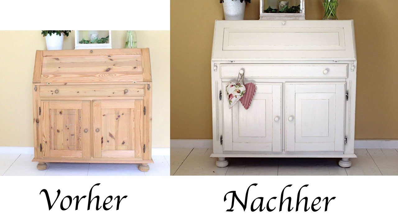 diy sekret r mit acryllack einen vintage look verleihen upcycling diy m bel alte m bel. Black Bedroom Furniture Sets. Home Design Ideas