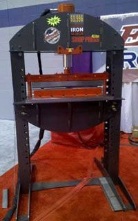 Hydraulic Shop Press attaches to a new Ironworker #machine #tool