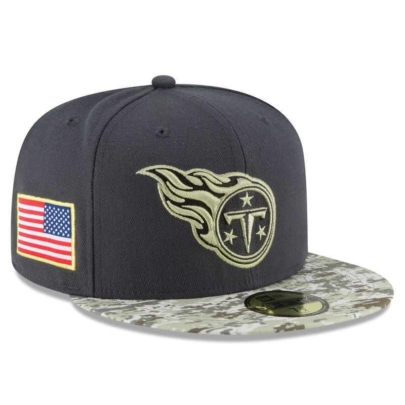 Tennessee Titans New Era Youth Salute To Service Sideline 59FIFTY Fitted  Hat - Graphite Camo 4e4074840