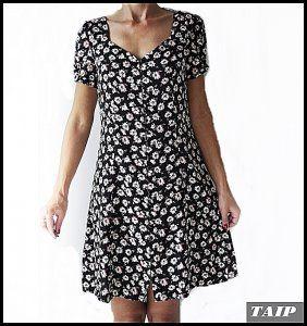 Next Czarna Sukienka W Kwiatki Guziki 38 6458168598 Oficjalne Archiwum Allegro Fashion Dresses With Sleeves Dresses