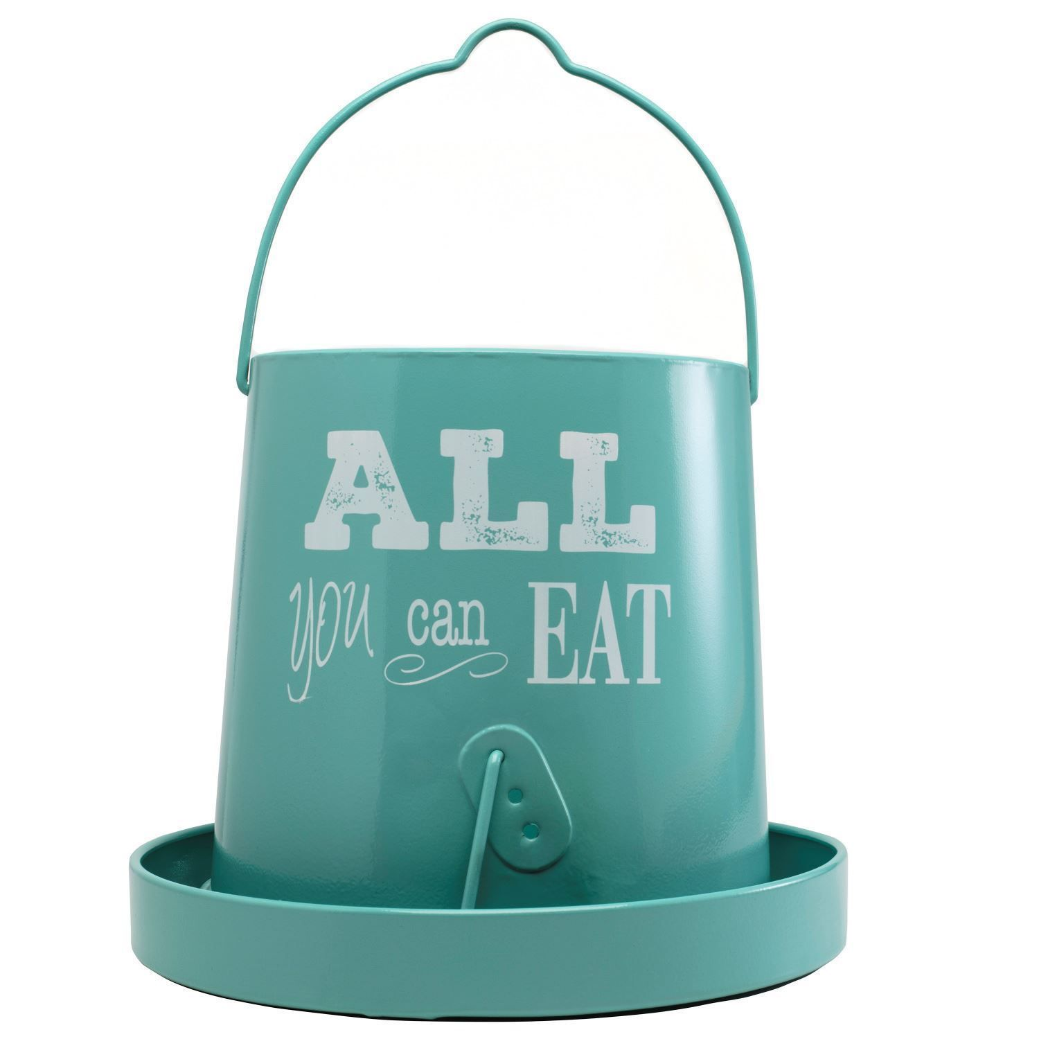 15 Lb Teal Vintage Feeder All You Can Eat Chicken Feeder Chickens Backyard Chicken Feeders