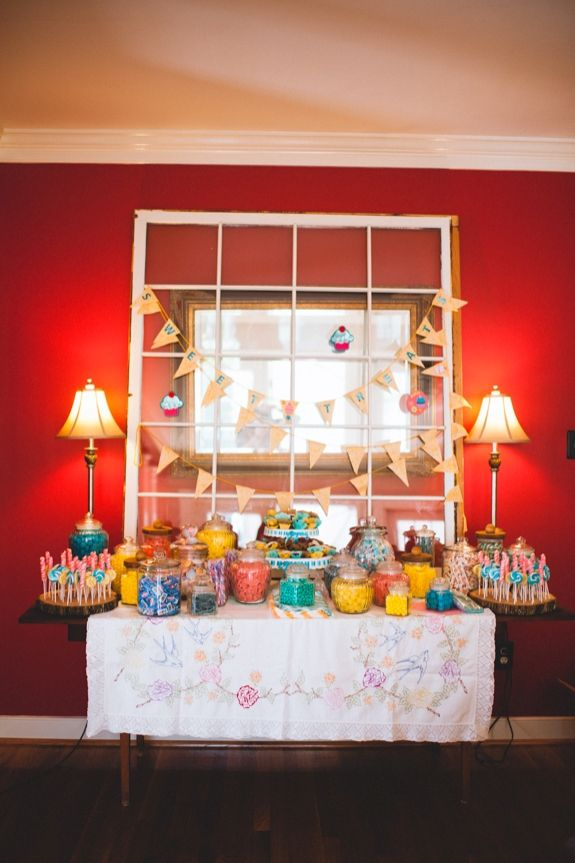 3 Home Decor Trends For Spring Brittany Stager: DIY Eclectic Dessert & Candy Bar Buffet From Kirsten