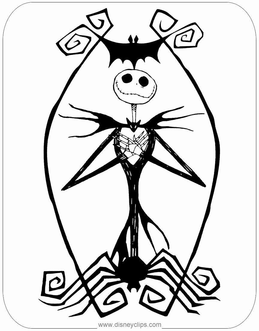 Jack Skellington Coloring Page Elegant the Nightmare ...