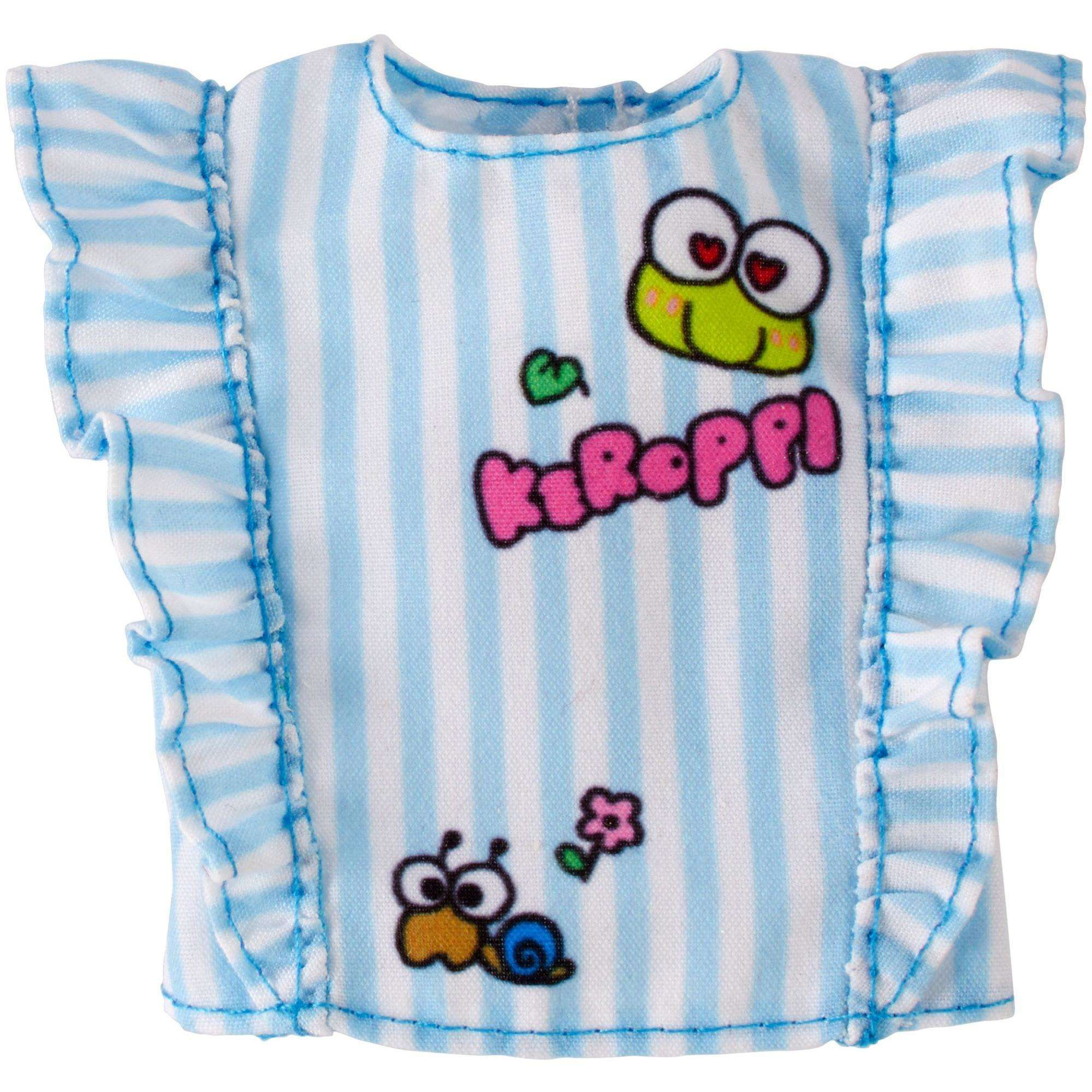 new product a4685 71a94 Barbie Hello Kitty Fashion Pack - Blue Stripe Ruffle Top ...