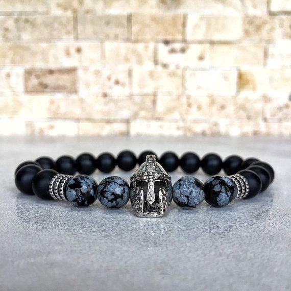 nouveau style cebba b07fe Mens Spartan Bracelet, Mens Onyx Bracelet, Spartan Bracelet ...