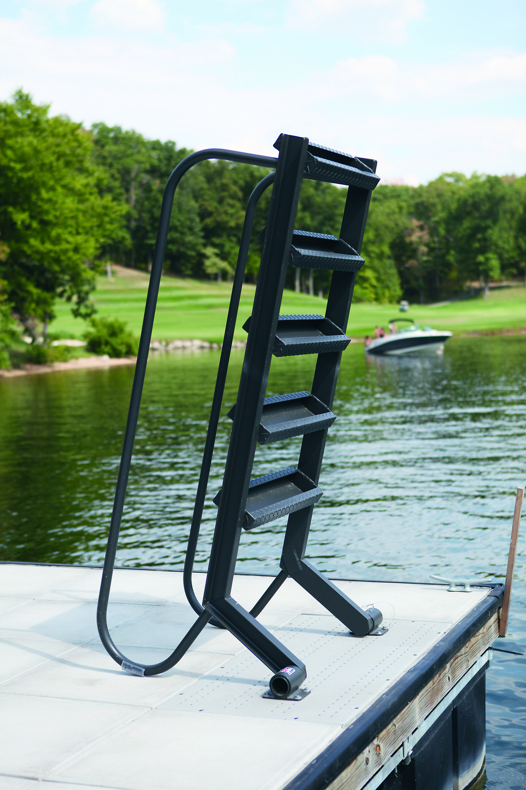 You Put Together Cheaper And Shipping Is Less 6 Steps Longest 24 Dock To Water Powder Coating Included In 2020 Dock Ladder Ladder Lake Houses Exterior