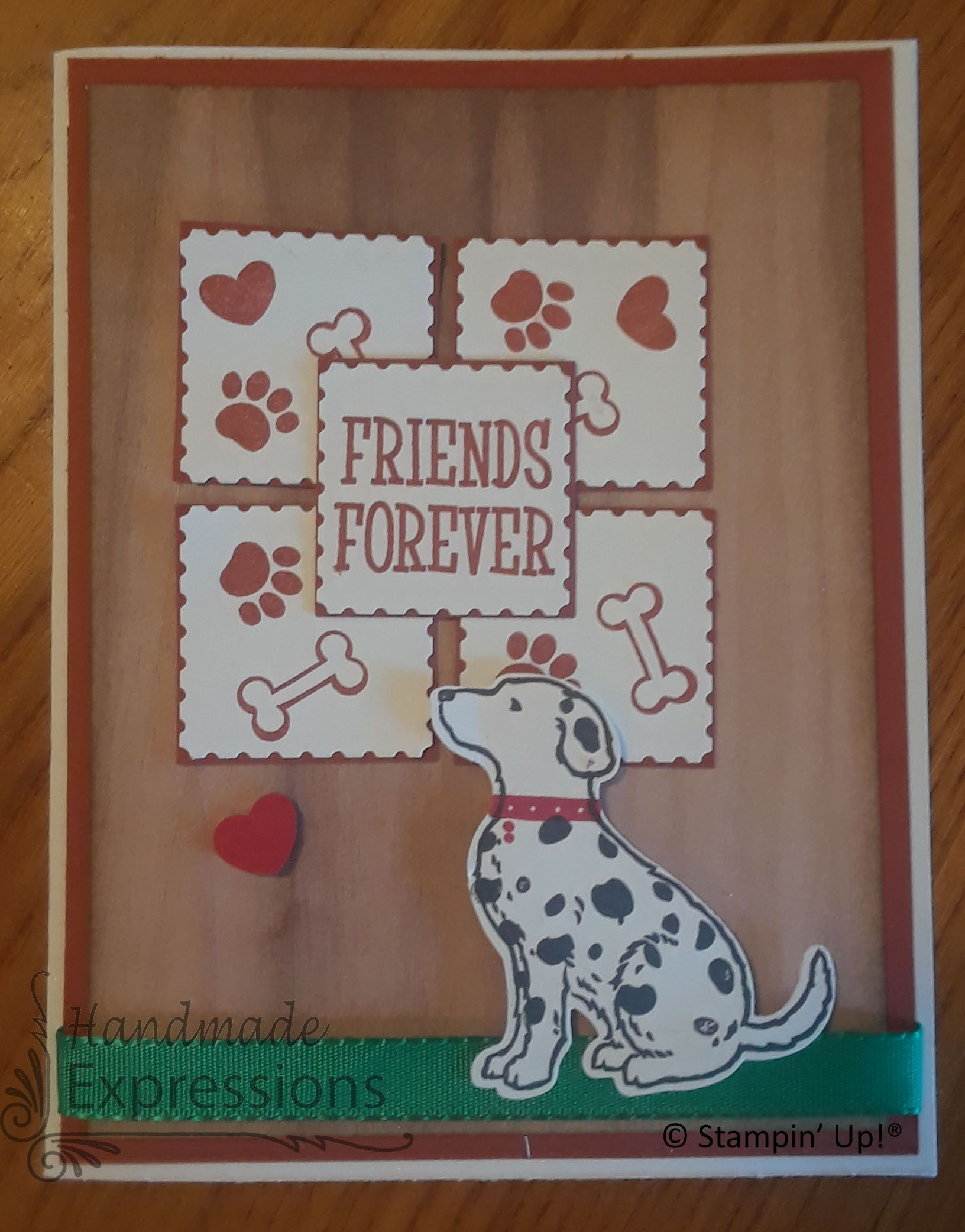 Forever friends happy tails stampin up cards
